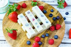 These make a DELICIOUS treat or also GREAT for smoothie Prep! When we keep it simple, we reach our goals :) Ingredients: 1/2 cup mixed berries of choice 1 cup Greek yogurt 2 Tbsps raw honey (to taste) 1/2 tsp vanilla extract Silicon molds (found on Amazon or in kitchen supply stores)...