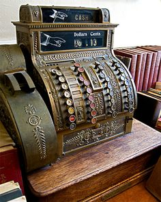 Photo Antique National Cash Register  Americana Still by FotoOp, $30.00