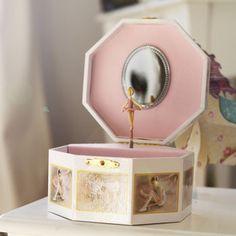 Ballerina Music Jewellery Box Pink