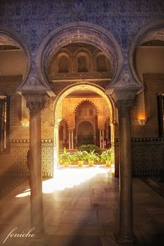 Alcazar of Seville, Spain ^^thisnis truly beautiful I visited it a few years ago and its much prettier in person