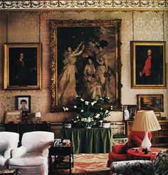Chatsworth. always been fascinated by the verrrrry large paintings hanging on alot of the English country homes.