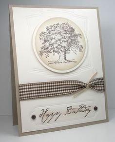 CAS Lovely As A Tree by die cut diva - Cards and Paper Crafts at Splitcoaststampers Masculine Birthday Cards, Birthday Cards For Men, Masculine Cards, Handmade Birthday Cards, Greeting Cards Handmade, Male Birthday, Masculine Wedding, Birthday Cake, Boy Cards