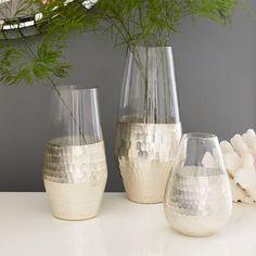 Metallic Honeycomb Vases | west elm