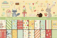 Happy Birthday Bundle by Poppymoondesign on @creativemarket