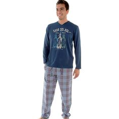 Pettrus pijama hombre soda Calidad al Mejor Precio Dibujo camiseta.
