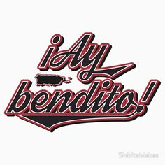 Ay Bendito Puerto Rican Saying - Puerto Rico Baseball. This is a saying by all Boricuas, however most of them are not aware how blessed we been 🌴 Bendito come from Bendecido. And we are very very blessed. Puerto Rican Memes, Puerto Rican Recipes, Puerto Rican Slang, Puerto Rican Singers, Puerto Rico Pictures, Slang Phrases, Puerto Rico History, Puerto Rican Culture, Porto Rico