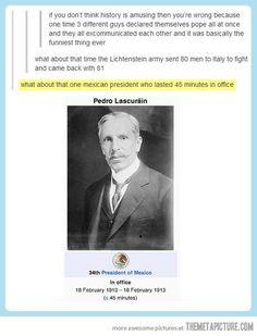 History is amusing…