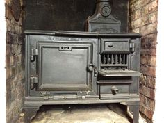 "Vintage The "" Belle "" Portable, Solid Fuel ( wood ) Wrought Iron Cooker Range"
