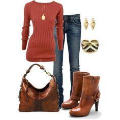 Rust color booties! So cute