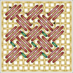 Criss Cross Hungarian Stitch