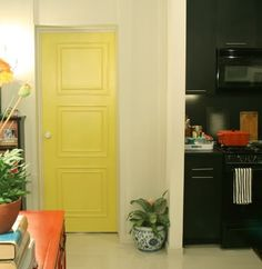 Let The Sun Shine In: Little Bits of Yellow | Apartment Therapy painted door