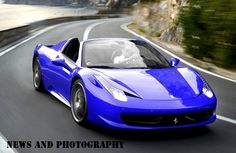 blue spider ferrari
