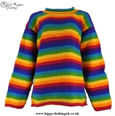 Gringo Striped Nepalese Wool Hippy Jumper