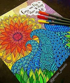#Repost @mandalaplanet  #Repost @prasun_finearts  Colourful!  comment your reviews!! #day9 #inktober #inspiroindia #mandala #zentangle #doodle #sea #sunset #sketch #wave #art #artist #draw #mandalaplanet #inspiration #colorful #color