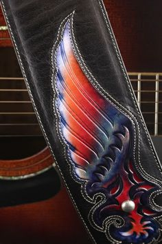 Ethos Custom Brands - Phoenix Fire and Ice Guitar Strap, http://www.ethoscustombrands.com/phoenix-fire-and-ice-guitar-strap
