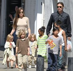Brad Pitt And Angelina Jolie Fly Their Children's Friends Over To Filming…