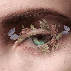 make-up beauty beauté femme maquillage Aesthetic Eyes, Aesthetic Makeup, Aesthetic Art, Aesthetic Pictures, Aesthetic Green, Aquarius Aesthetic, Angel Aesthetic, Aesthetic Grunge, Cute Makeup