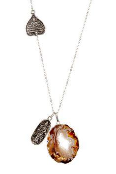 Buddha Geode Slice Pendant Necklace by Alisa Michelle on @HauteLook