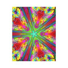Beautiful Flower Abstract Wrapped Canvas