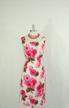 1950s Roses Dress  Vintage Cotton Large by VintageFrocksOfFancy  Somebody bought my dress...