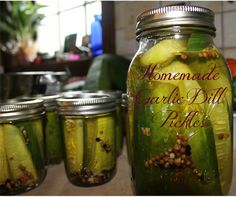 #Homemade Garlic Dill Pickles, easy and delicious!