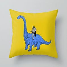 How to Carve Roast Unicorn: BATMAN RIDES DINOSAURS - VERY COOL PILLOW SET!