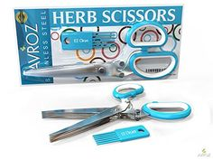 Herb Scissors Best Quality Easy Clean Multipurpose 5 Stainless Steel Blades Kitchen Shears - Ergonomic Design with Cleaning Comb - Heavy Duty Durable Culinary Cutter with Sharp Blade - Turquoise Color EZ Clean Best Herb Scissors http://www.amazon.com/dp/B00XZTXGZE/ref=cm_sw_r_pi_dp_9vxIvb0H6Z32G