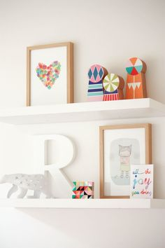 Baby Nursery Childs Bedroom Playroom Cloud Shaped Floating Book Shelf