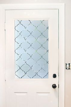 Adhere semi-transparent contact paper to a window for extra privacy. | 23 Super Cute Contact Paper DIYs To Transform Your Home