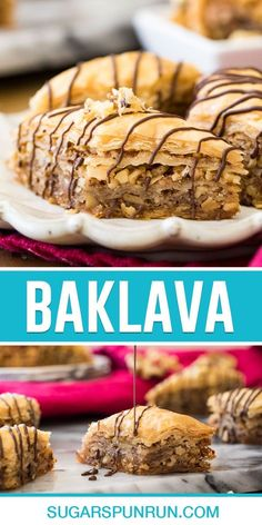 How to make perfect homemade baklava! While it may appear complicated (and it is time consuming) it's actually quite simple to make! Sweet Desserts, No Bake Desserts, Easy Desserts, Dessert Dips, Dessert Recipes, Baking Recipes, Cookie Recipes, Baklava Recipe, Baking School