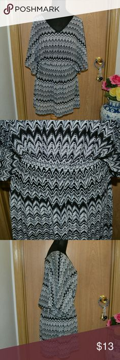 Wearabouts swimsuit cover up Smoke free home! NO HOLDS OR TRADES! I ship Monday-Friday! Buy 3 get one FREE! A super cute black , white &gray sheer swim suit cover up size large. 100% polyester.  In good condition. wearabouts Swim Coverups