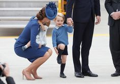 Charlotte e George roubam a cena na chegada real ao Canadá