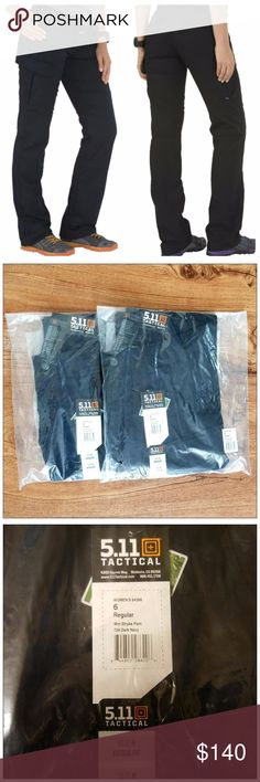 5-11 Women's Stryke Pant - dark navy (2) BRAND NEW. NEVER WORN. STILL WRAPPED IN ORIGINAL PLASTIC!   2 PAIRS! Women's tactical pant. Dark navy in color.  Both Size 6R. Will sell together or separate. If you want only 1 pair I will make you a seperate listing, just send me a chat! 5.11 Tactical Pants
