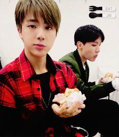 BTS | JIN eats