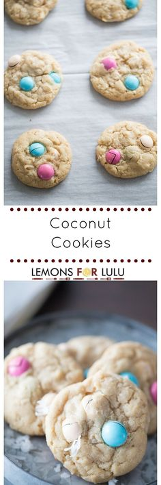 Buttery and sweet coconut cookie recipe that is soft and tender and loaded with chocolate pieces!