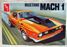 t335-225mustangmach1.JPG (635×447)AMT T335-225.    1972 MUSTANG MACH 1 PRO STOCKER.  1:25.  1970's.  build as:    pro stock drag; road racer; custom; stock.  mint and factory  sealed.  125.00