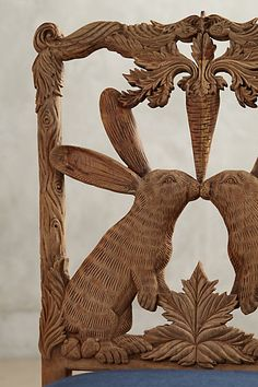 Anthro Handcarved Menagerie Dining Chair...beautiful in a Country French breakfast room!
