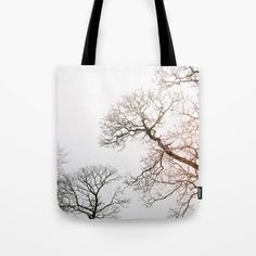 Trees in the winter Tote Bag by karidesign Poplin Fabric, Hand Sewn, Original Artwork, Stress, Reusable Tote Bags, America, Shoulder, Cotton, Anxiety