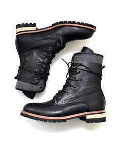 Shoes :: Double Contrast Layer High Boots-Shoes 354 - Mens Fashion Clothing For An Attractive Guy Look by adeline Me Too Shoes, Men's Shoes, Shoe Boots, Dress Shoes, Fashion Boots, Mens Fashion, Fashion Fall, Mens Winter Boots, Casual Boots For Men