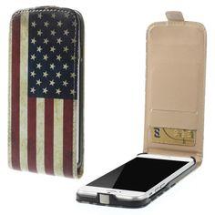 Mesh - iPhone 6 Hoesje - Flip Case Amerikaanse Vlag | Shop4Hoesjes