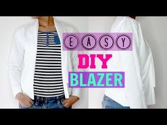 How to make easy DIY Blazer step by step tutorial (Beginners  Friendly) (use another jacket or blazer as the pattern)