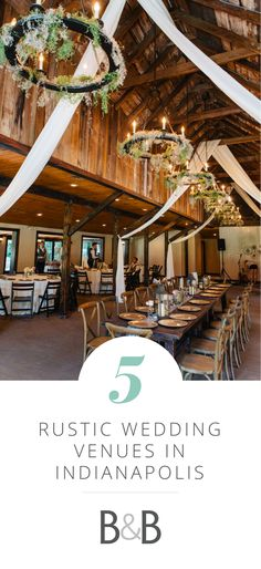 Top 5 Rustic Wedding Venues in Indianapolis // Riverland Studios