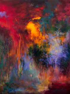 """Saatchi Art Artist Rikka Ayasaki; Painting, """"Passions, Boulogne forest 33 (Painted in 2013, 100x81cm) """" #art"""