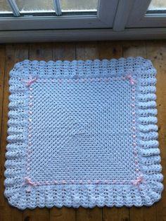 Crochet chal de bebé manta abuela cuadrados bebé con cáscara