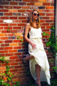 white flowing maxi #summer #fashion