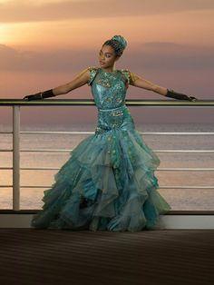 Disney Descendants 2, Descendants Cast, China Anne Mcclain, Scarlett Dresses, Disney Outfits, Girl Power, Ball Gowns, Daughter, Costumes