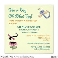 Swooping dragonfly baby shower invitations minted for stationery dragonflies baby shower invitation filmwisefo