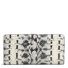 The Madison Skinny Wallet In Two Tone Python Embossed Leather from Coach