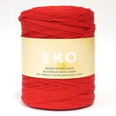 EKO-ontelokude, rulla n. 1 kg Yarns, Tube, Cotton, Art Yarn, Cable Knitting