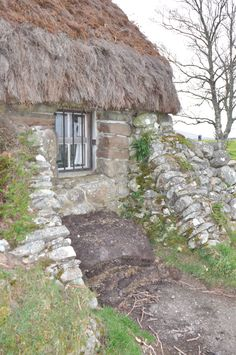 Crofters Cottage, farm house, Culloden Moor, Inverness, Scotland